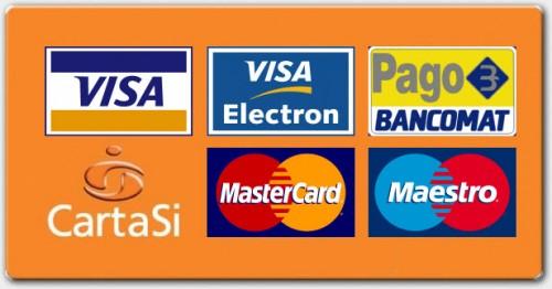 si accettano pagamenti da pagobancomat e carte di credito