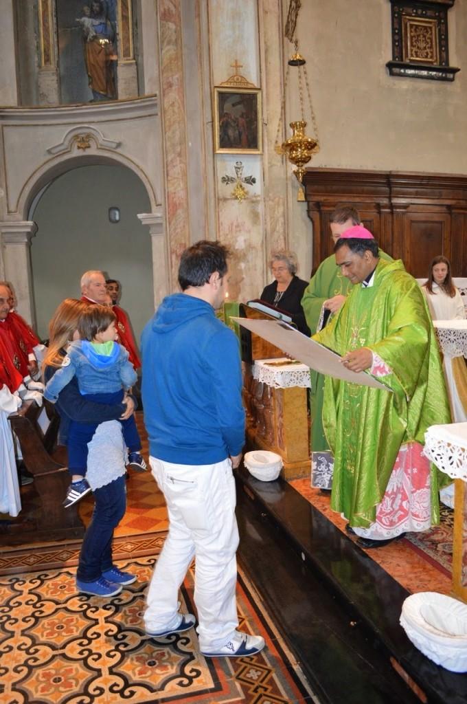 Quadro a monsignor Kishor vescovo di Rourkela (India)