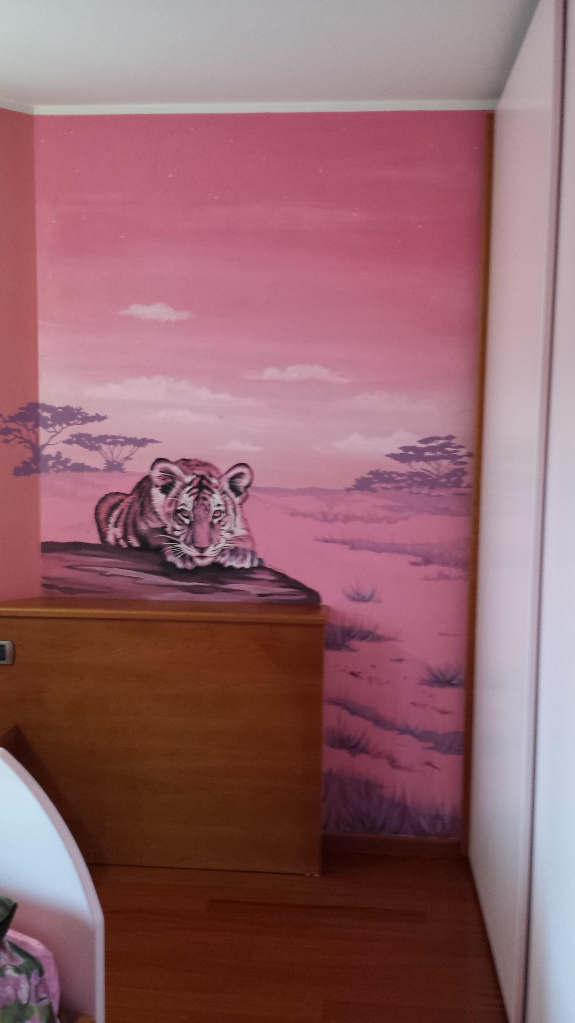 Cameretta savana con tigrotto