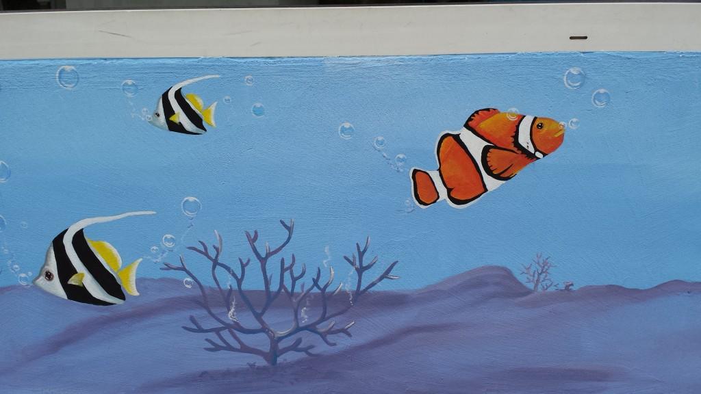 Murales marino piscine di Albino